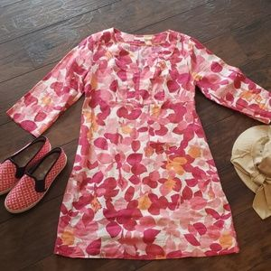 Boden Floral Tunic with 3/4 Sleeves